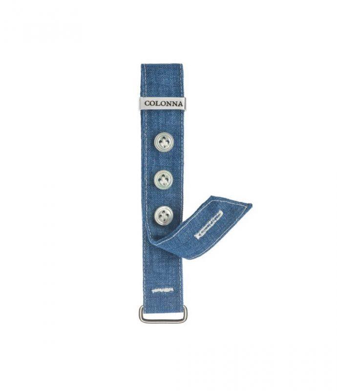 Polsino in lino blu #1