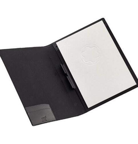 Montblanc Meisterstück porta blocco A4 in pelle colore nero - 5523 #2